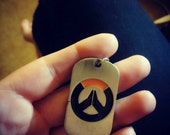 Overwatch Dogtag key chain zinc alloy Geeky gift