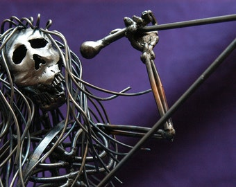 Rock god, The Morgueans, Singer, Front Man, Metal Sculpture