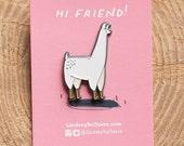 Llama Pin / Llama Enamel Pin - Illustrated
