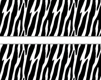 Superb ZEBRA ANIMAL PRINT Wallpaper Border Wall Decal Teen Girl Boy Room Baby  Jungle Nursery Kids Safari