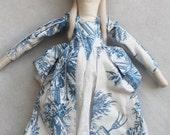 Marie Antionette Ragdoll:Vintage,Recycled Materials,Cloth Doll,Ragdolls,Cloth Handmade Dolls,French Ragdoll