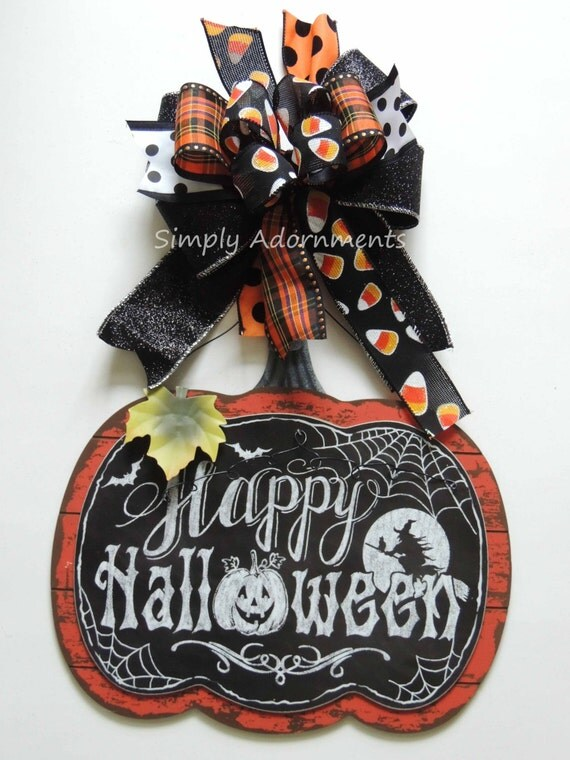 Candy Corn Black Bow Black Orange Halloween Bow Halloween Candy Corn Lantern Bow Halloween Plaid Swag Bow Halloween Door Hanger Decoration