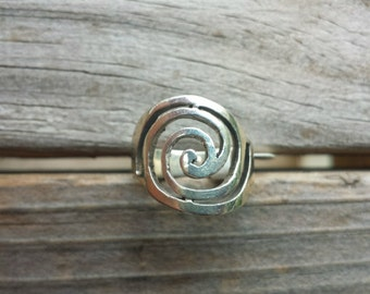 Spiral Ring, Sterling Silver Ring, Size 6 Ring, Statement RING Silver spiral RING spiral silver vortex ring Sterling jewelry, Vortex Ring