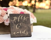 Gifts and Cards Sign, Wedding Gift Table Sign,  Gifts Sign, Wooden Wedding Signs, Gold Wedding Signs