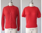 50s Braemar cashmere twinset size small - medium / vintage cashmere sweater set
