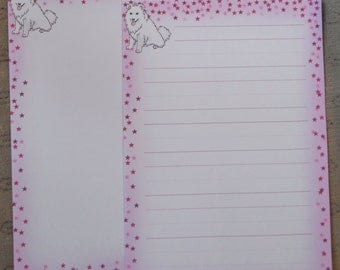 Letter paper - cute puppy dog drawing - animal writing paper