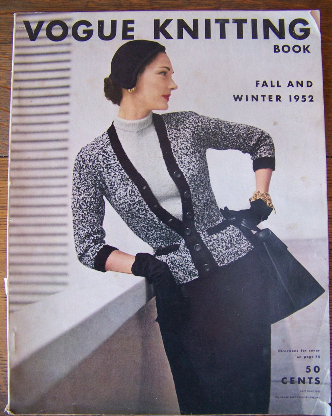 Vintage vogue knitting book 1952 fall and winterntage 1950s sold by lesaestes bankloansurffo Choice Image