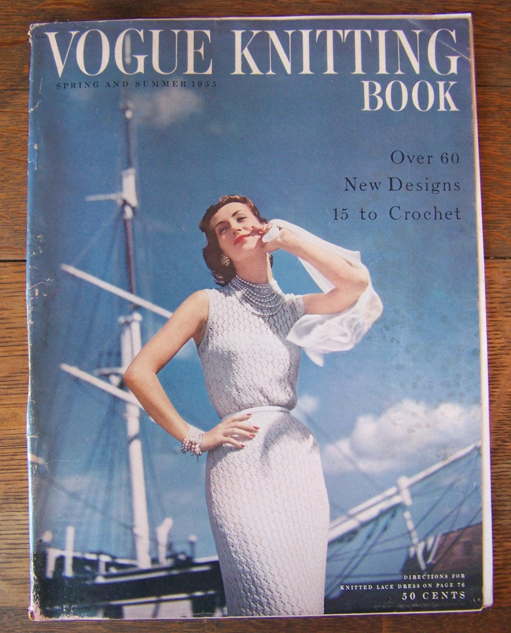 Vintage vogue knitting book 1955 spring and summerntage 1950s sold by lesaestes bankloansurffo Choice Image