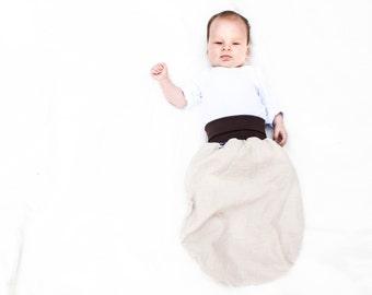 Organic sleeping bag baby, organic sleep sack, plain baby blanket, baby cocoon, baby shower gift, baby bedroom, wearable blanket