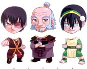 Mix and Match Magnets: Zuko, Iroh, Toph (Avatar Set 2)