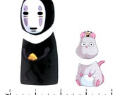 Mix and Match Magnets: No Face, Mouse and Bird (Spirited Away Set 2)