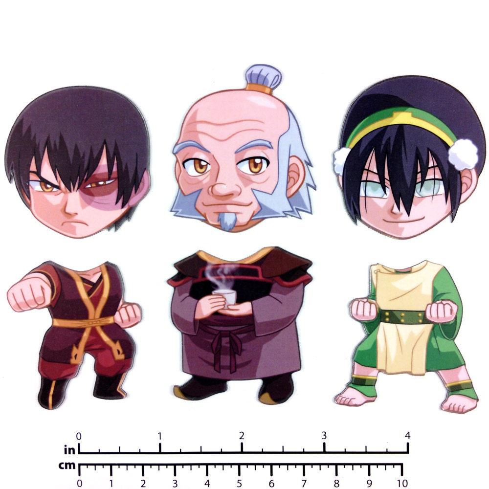 Avatar 2 Yet: Mix And Match Magnets: Zuko Iroh Toph Avatar Set 2