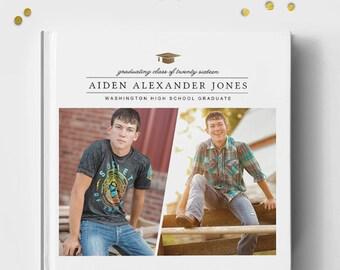 Senior Photo Book Cover Template, Senior Album Template, Senior Template, Senior Book Templates, Guys Girls Senior Album Templates BC132