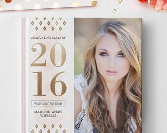 Senior Photo Book Cover Template, Senior Album Template, Senior Template, Senior Book Templates, Senior Album Templates BC128