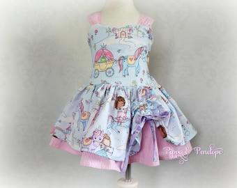 Princess Party Dress, Girls Dress, Boutique Dress, Handmade Dress, Princess Dress, Toddler Dress