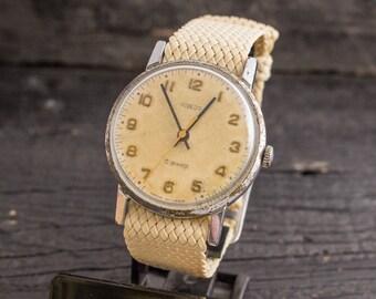 Vintage Pobeda mens watch, vintage russian watch, vintage mens watch, soviet mechanical watch, ussr cccp