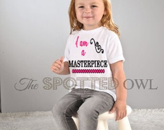 Christian toddler tshirt,  I am a Masterpiece
