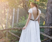 Wedding Dress, Bohemian Wedding Gown, Boho Bridal Dress, Long Wedding Dress, Ivory Lace Dress, Lace Wedding Dress, Adalina Dress by SuzannaM