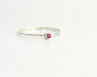 Ruby Ring- Tiny Ruby Ring, Natural Ruby Ring, Dainty Ruby Ring, Stackable Ruby Ring, Midi Ruby Ring, Pinky Ruby Ring, Gold Ruby Ring
