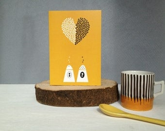 Shake It Up Anniversary And Valentines Card- Eco Blank Anniversary card for him and her- Blank Valentines card for him and her- Uk Seller