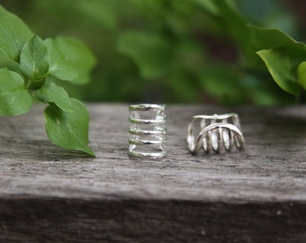 1 Sterling Silver Ring Cuff 7mm Hole (7/32 Inch)