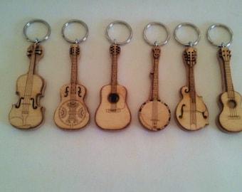 Bluegrass Instrument Key Rings