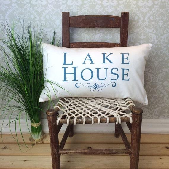LakeHouse Pillow Lake House Decor Lake House Gifts Lake