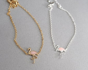 flamingo bracelet, Animal Jewelry