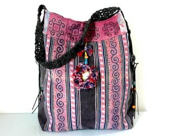 hmong bag, hmong shopper, hill tribe bag, ethnic bag, recycled bag, ooak