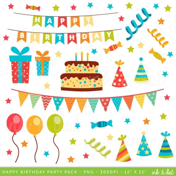 Happy Birthday Clip Art Birthday Clipart Scrapbook Supplies