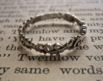 Vintage 925 Sterling Silver Stacking Ring