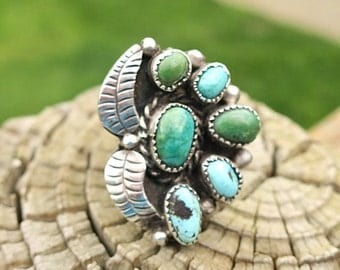 Beautiful Vintage Navajo Turquoise Ring