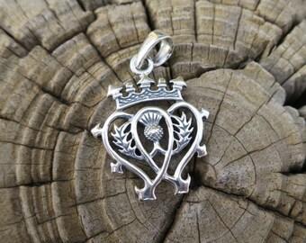 Vintage 925 Sterling Silver Luckenbooth Pendant