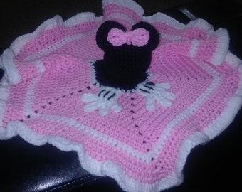 Minnie Mouse Inspired Crochet Snuggle Blanket