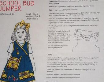 Daisy Kingdom Easy-to-Sew School Bus Jumper