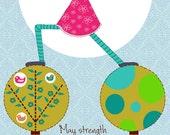 "Printable Yoga Birthday Card, yoga birthday card, printable birthday card, printable yoga card 5"" x 7"""