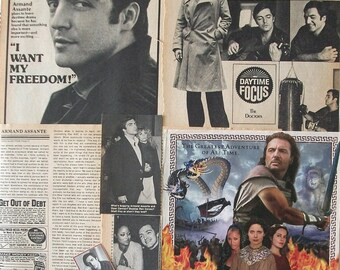 ARMAND ASSANTE - The Doctors, Private Benjamin, Little Darlings, The Odyssey - Color and B&W Clippings, Articles, Pin-Ups from 1976-1997
