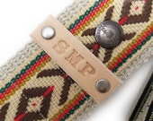 Personalize a Feedback Guitar, Camera, or Ukulele Strap with Your Initials on Leather - Must be Purchased along with a Feedback Strap