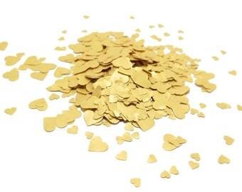 Tiny Confetti, Heart Confetti, Gold Confetti, Gold Heart Confetti, Confetti Hearts, Small Confetti, Table Confetti, Metallic Confetti