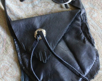 Fringe Shoulder Bag Concho Bag
