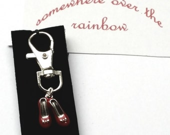 Wizard of Oz themed Silver Plated Key Ring OR Waxed Cotton Cord Bracelet OR Silver Plated Necklace