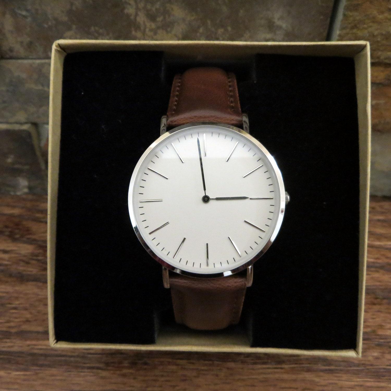 megir fashion leather sports quartz watch for man military ... |Wrist Watch For Men Leather