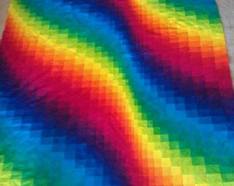 Queen Size Quilt Wave Bargello Customizable