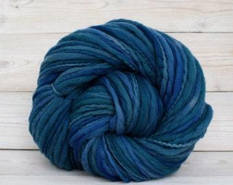 Titan - Hand Dyed Thick & Thin Merino Wool Bulky Chunky Yarn - Colorway: Bayside