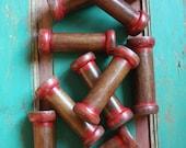 Large Vintage Industrial Wooden Thread Reels Spools 13.5cm long