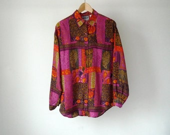 SILK versace style 90s FRESH PRINCE baroque shirt