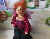 "Handmade Art doll ""Madame Gloriosa"" an elfen ooak lady of the night"