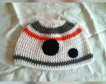 Droid Robot Beanie Hat, Baby Cap, Child, Robot Beanie, Teen or Adult Cosplay Hat, Fandom Gifts, Gifts for Him, BB-8 hat