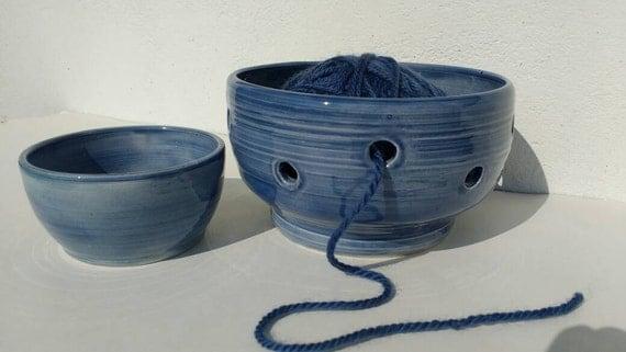 Knitting Bowl Uk : Small yarn bowl for knitting with pin dish pottery ceramic