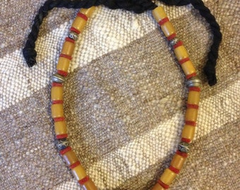 Old Vintage Berber Tribal Moroccan Bead Necklace